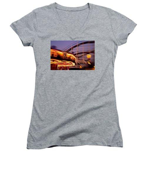 Did I Dream It Belmont Park Rollercoaster Women's V-Neck