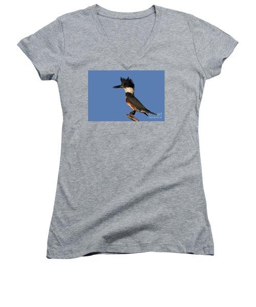 Belted Kingfisher Women's V-Neck