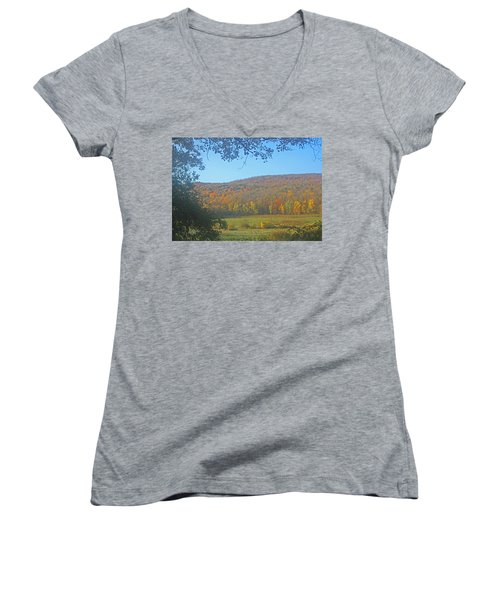 Berkshires Colors  Women's V-Neck T-Shirt (Junior Cut) by Todd Breitling