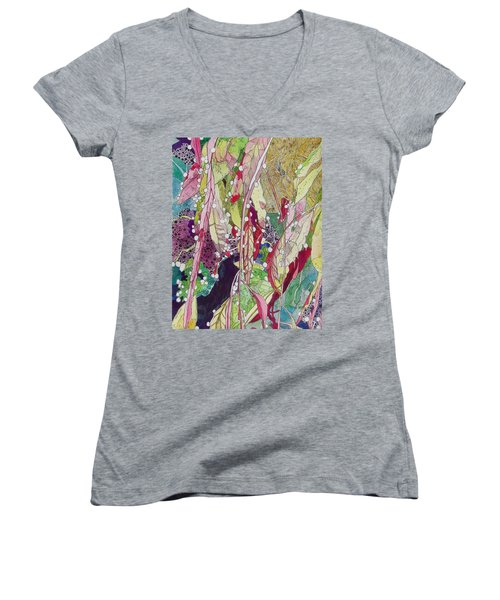 Berries And Cactus Women's V-Neck T-Shirt