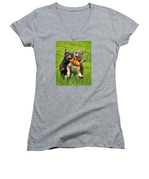 Best Friends 2011 Women's V-Neck T-Shirt (Junior Cut) by Joan Davis