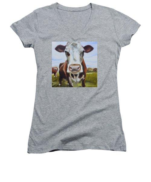Betsy Women's V-Neck T-Shirt (Junior Cut) by Donna Tuten
