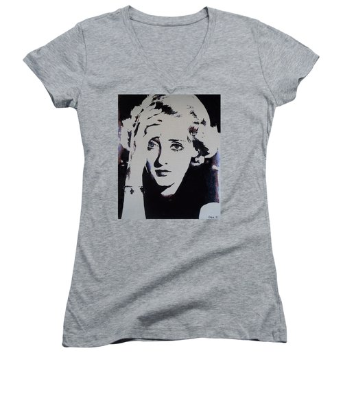 Bette Davis Women's V-Neck T-Shirt