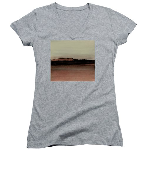 Between The Woods And Frozen Lake  Number 1133-10 Women's V-Neck T-Shirt