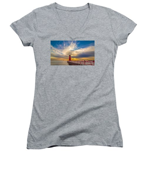 Beyond The Pier Women's V-Neck (Athletic Fit)