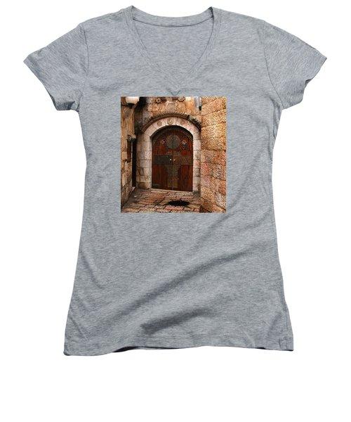 Door In Jerusalem Women's V-Neck
