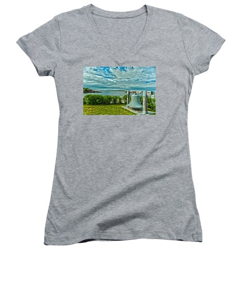Biddeford Pool Bell Women's V-Neck T-Shirt