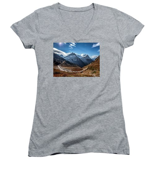 Big Bend Women's V-Neck T-Shirt (Junior Cut) by Aaron Aldrich
