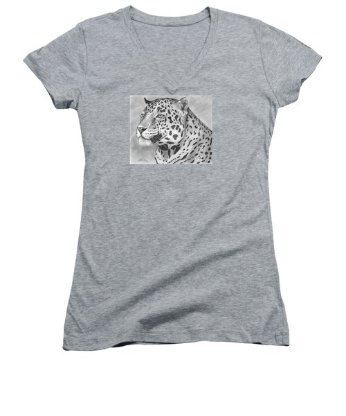 Big Cat Women's V-Neck T-Shirt