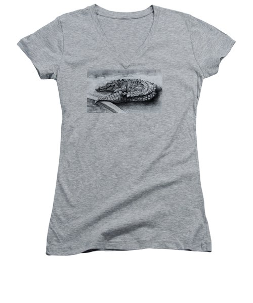 Big Daddy A Drawing Women's V-Neck (Athletic Fit)