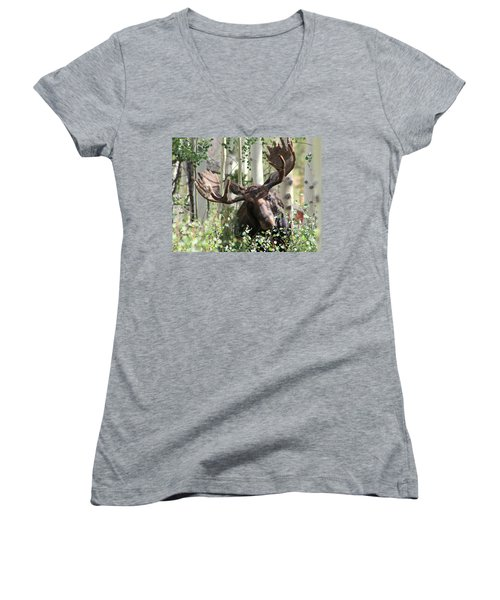 Big Daddy The Moose 3 Women's V-Neck (Athletic Fit)