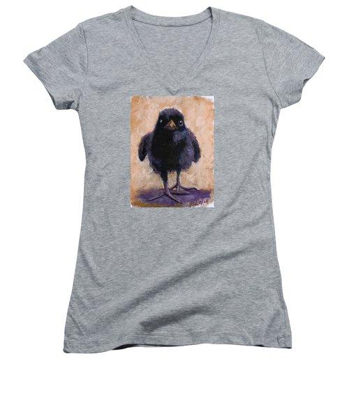 Big Foot Women's V-Neck T-Shirt (Junior Cut) by Billie Colson