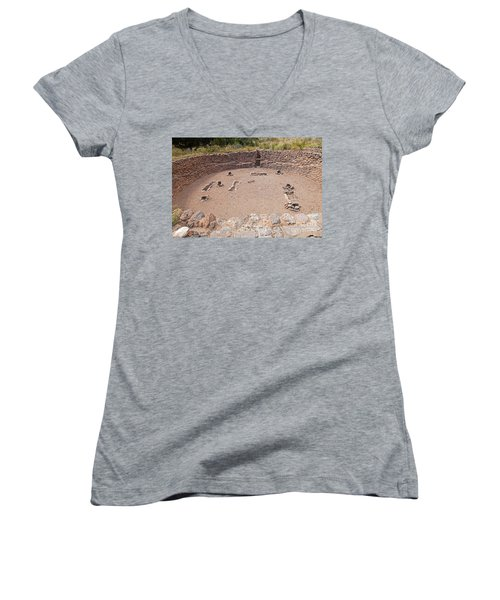 Big Kiva Bandelier National Monument Women's V-Neck (Athletic Fit)