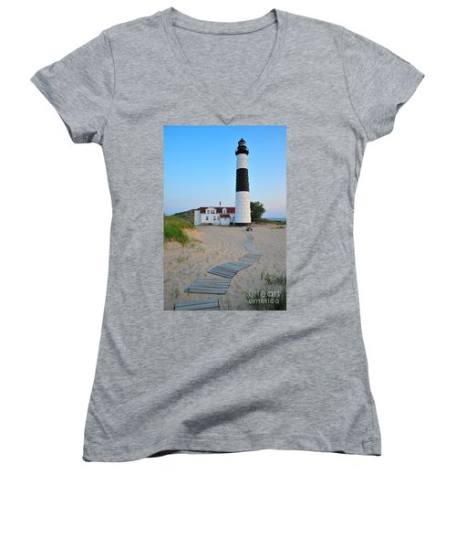 Big Sable Point Great Lakes Lighthouse Women's V-Neck