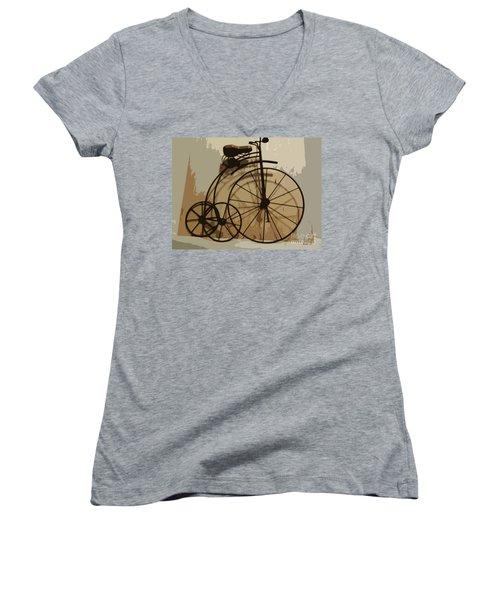 Big Wheel Trike Women's V-Neck T-Shirt