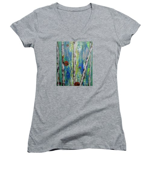 Birch - Lt. Green 4 Women's V-Neck