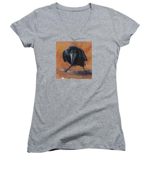 Bird  Watching Women's V-Neck T-Shirt (Junior Cut) by Billie Colson