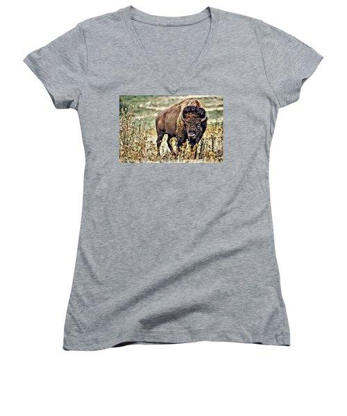 Bison Women's V-Neck