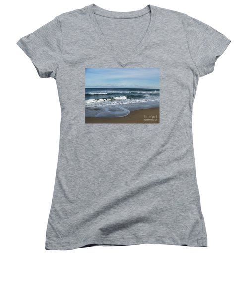 Winter Beach  Women's V-Neck (Athletic Fit)