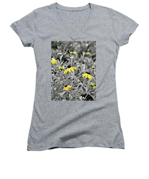 Black-eyed Susan Field Women's V-Neck T-Shirt