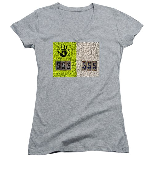 Black Hand Women's V-Neck (Athletic Fit)