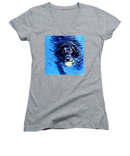 Black Lab  Blue Wake Women's V-Neck (Athletic Fit)