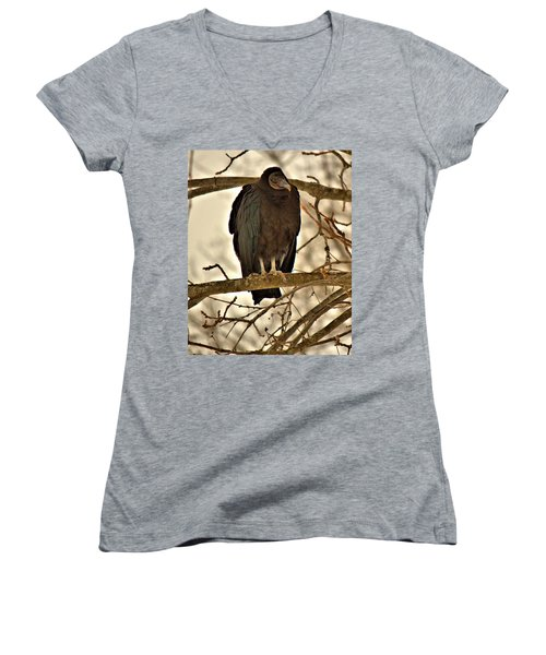 Black Vulture 1 Women's V-Neck