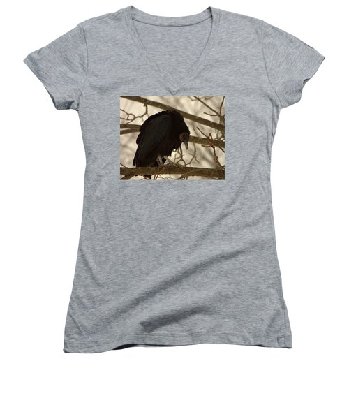Black Vulture 4 Women's V-Neck
