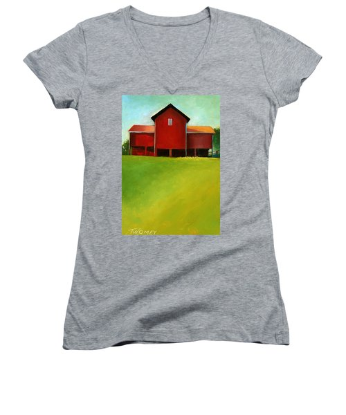 Bleak House Barn 2 Women's V-Neck T-Shirt