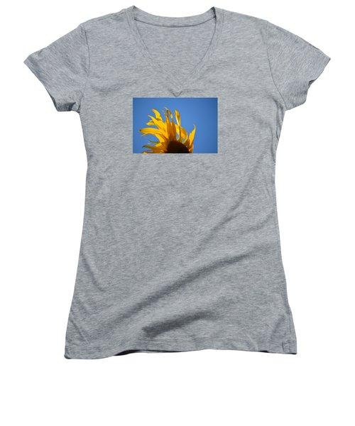 Blow Back Women's V-Neck T-Shirt