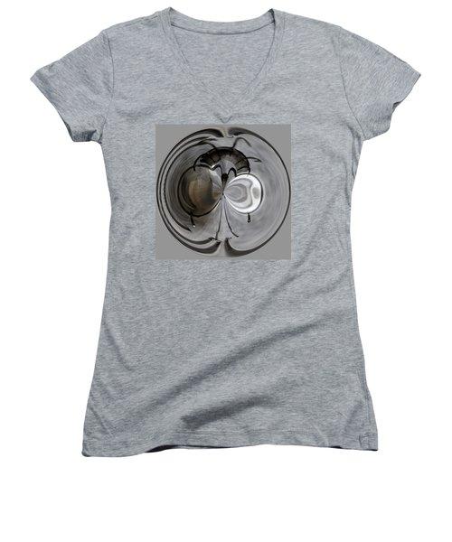 Blown Out Filament Women's V-Neck T-Shirt (Junior Cut) by Tikvah's Hope