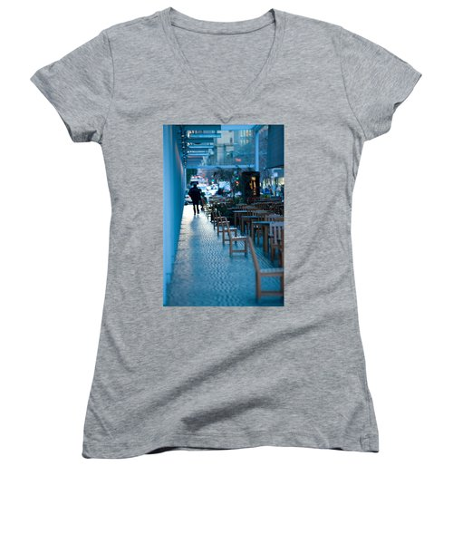 Blue Afternoon San Francisco Women's V-Neck (Athletic Fit)