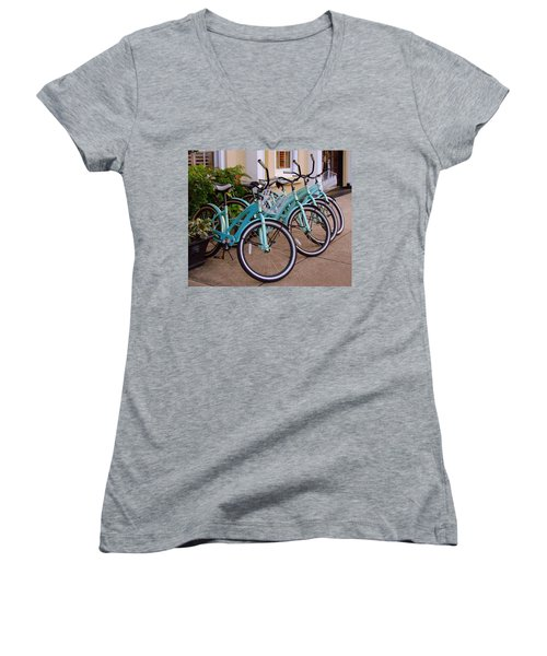 Blue Bikes Women's V-Neck (Athletic Fit)