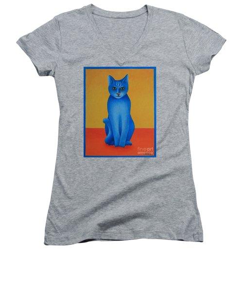 Blue Cat Women's V-Neck (Athletic Fit)