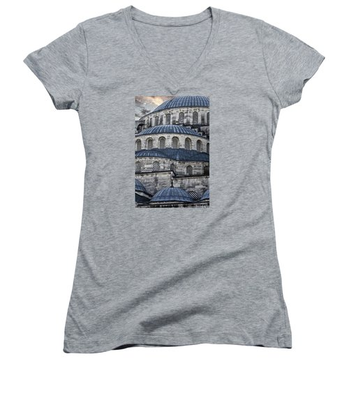 Blue Dawn Blue Mosque Women's V-Neck T-Shirt (Junior Cut)