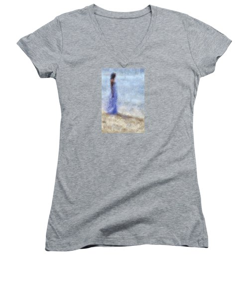 Blue Dream. Impressionism Women's V-Neck (Athletic Fit)