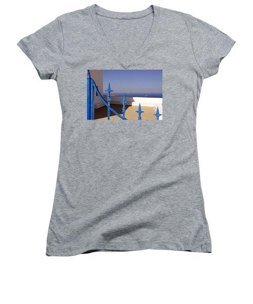 Blue Gate Women's V-Neck T-Shirt