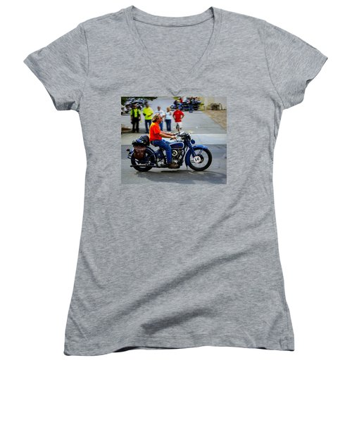 Blue Harley 46 Women's V-Neck