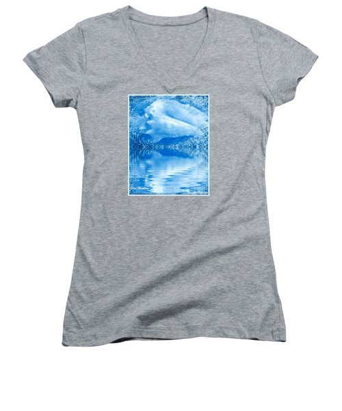 Blue Healing Women's V-Neck T-Shirt