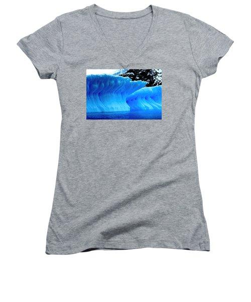 Blue Iceberg Women's V-Neck T-Shirt