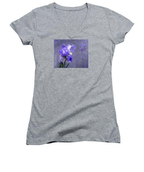 Blue Iris Women's V-Neck T-Shirt