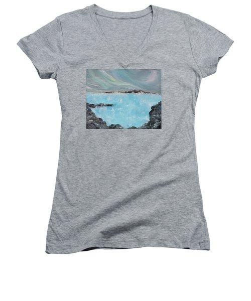 Blue Lagoon Iceland Women's V-Neck T-Shirt