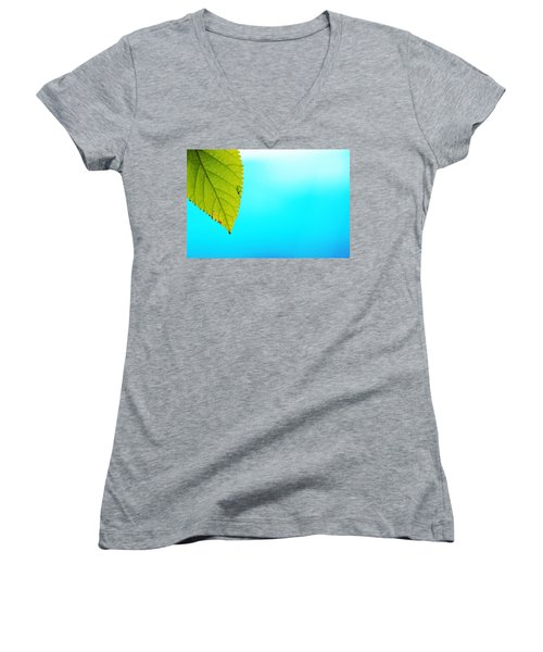 Blue Lagoon Women's V-Neck T-Shirt (Junior Cut) by Prakash Ghai