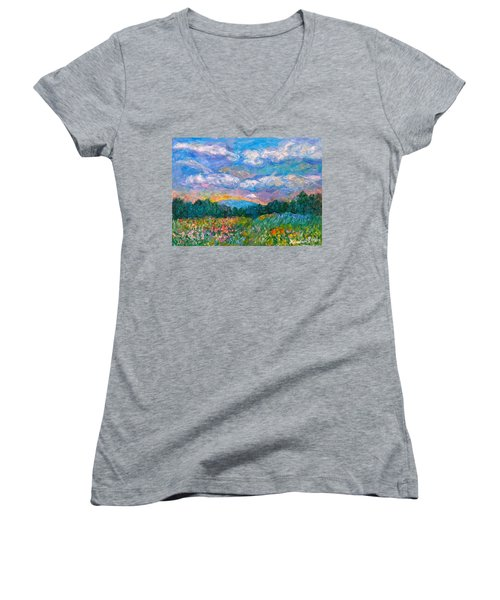 Blue Ridge Wildflowers Women's V-Neck