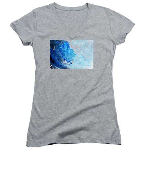 Blue Rust Women's V-Neck T-Shirt (Junior Cut) by Randi Grace Nilsberg