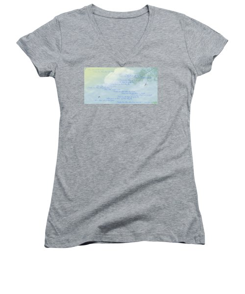 Blue Skies Women's V-Neck (Athletic Fit)