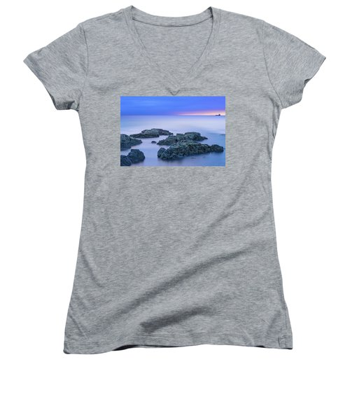 Blue Sunrise Women's V-Neck (Athletic Fit)