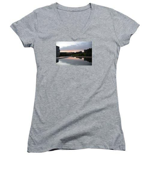 Blue Visions 2 Women's V-Neck T-Shirt