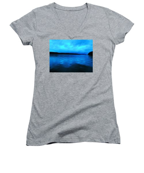 Blue Water In The Morn  Women's V-Neck (Athletic Fit)