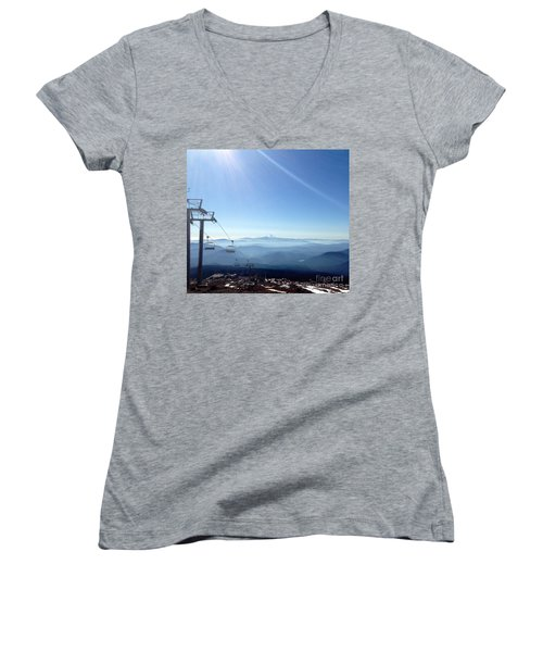 Blue Yonder Women's V-Neck T-Shirt